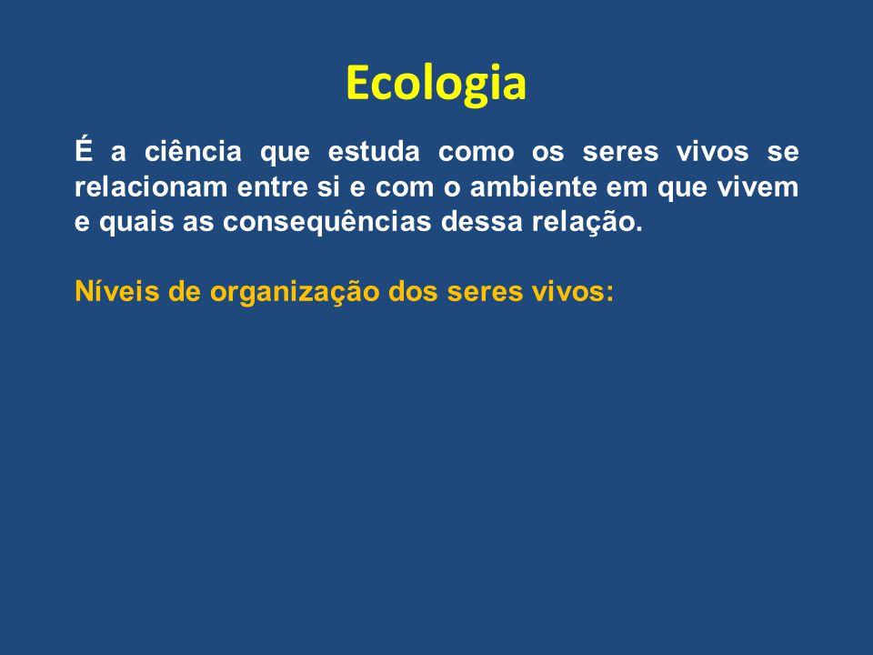Ecologia É a ciência que estuda como os seres vivos se relacionam entre si e com o ambiente em que vivem e quais as consequências dessa relação. Nívei