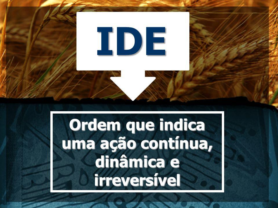 IDE Ordem que indica uma ação contínua, dinâmica e irreversível
