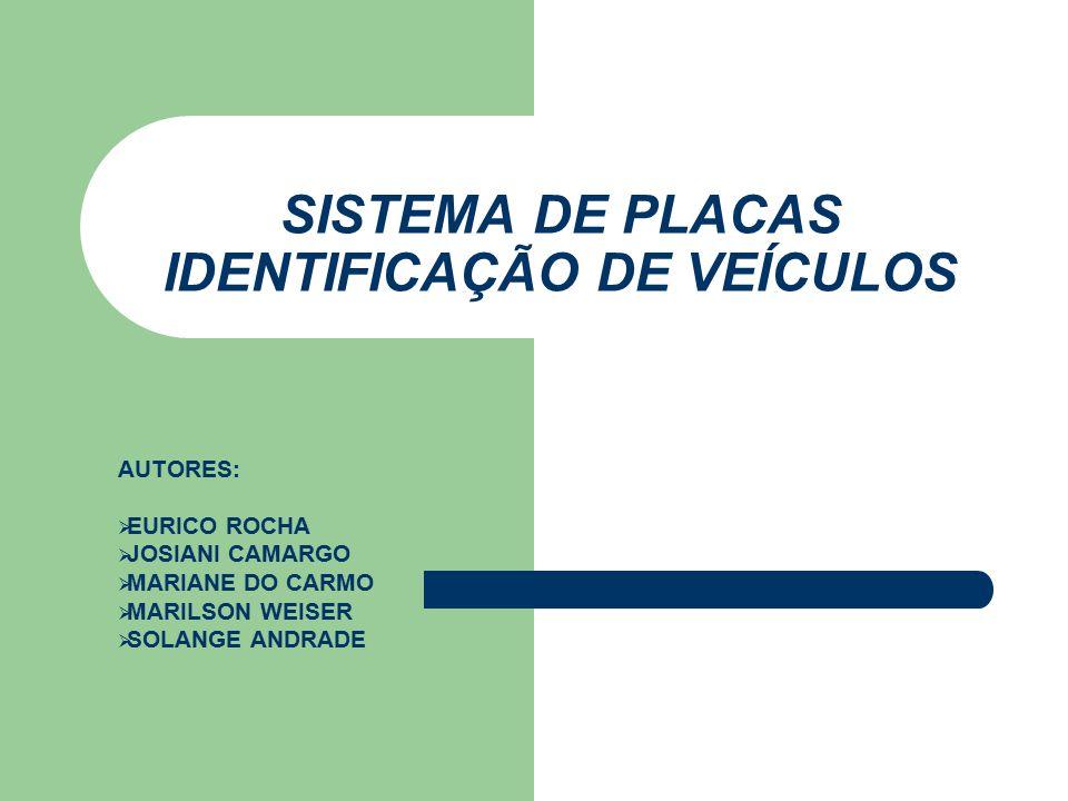 Placas de Veículos Origem: – 1900 - placa P1 , em São Paulo – 1903 - a prefeitura tornou obrigatória a inspeção dos veículos (apenas 6), para fornecer uma placa de identificação, que seria obrigatoriamente afixada na parte traseira – 1990 - Surgiram no Estado do Paraná, os três caracteres que iniciam as placas, portanto no Paraná inicia-se com AAA .