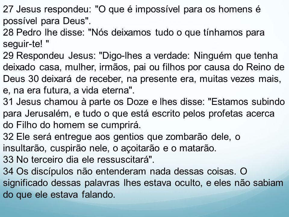 27 Jesus respondeu: