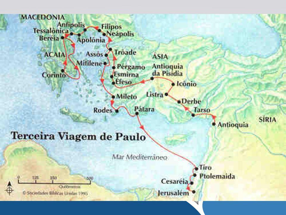 1.Enviou o Apóstolo Paulo nas suas três viagens missionárias – Atos 15.35; 18.23.