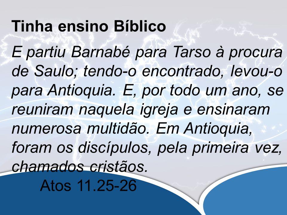 Expandiu sua Equipe Pastoral: Havia na igreja de Antioquia profetas e mestres: Barnabé, Simeão, por sobrenome Níger, Lúcio de Cirene, Manaém, colaço de Herodes, o tetrarca, e Saulo.