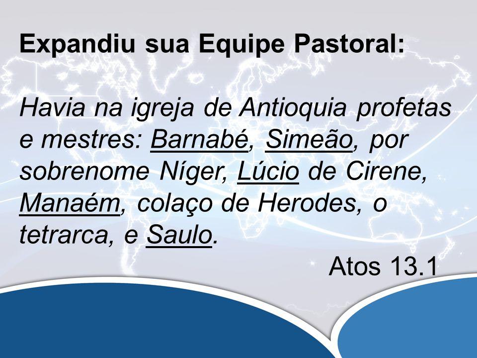 Os Líderes buscavam a Deus: E, servindo eles ao Senhor e jejuando, disse o Espírito Santo: Separai-me, agora, Barnabé e Saulo para a obra a que os tenho chamado.