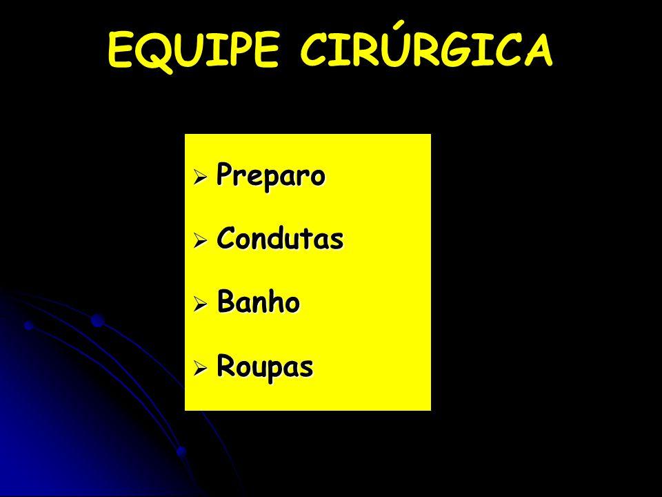  Preparo  Condutas  Banho  Roupas EQUIPE CIRÚRGICA