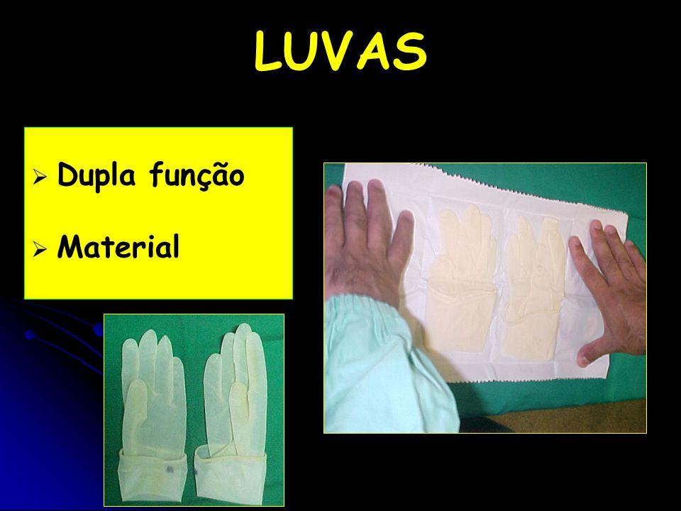   Dupla função   Material LUVAS