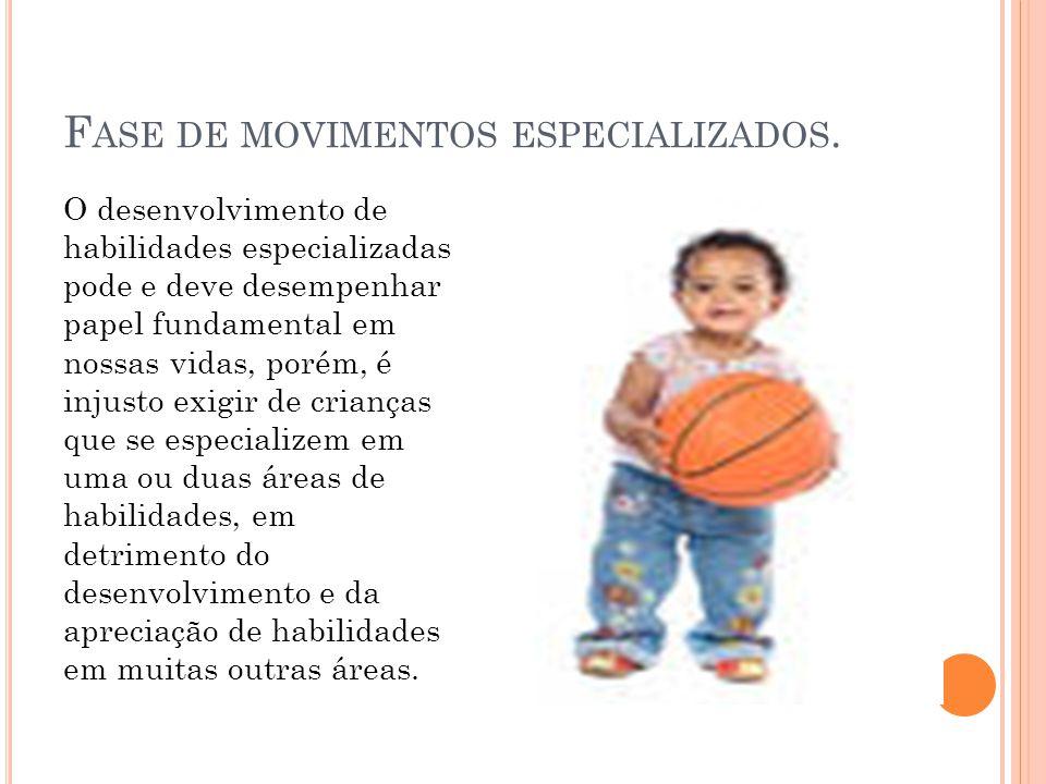 F ASE DE MOVIMENTOS ESPECIALIZADOS.