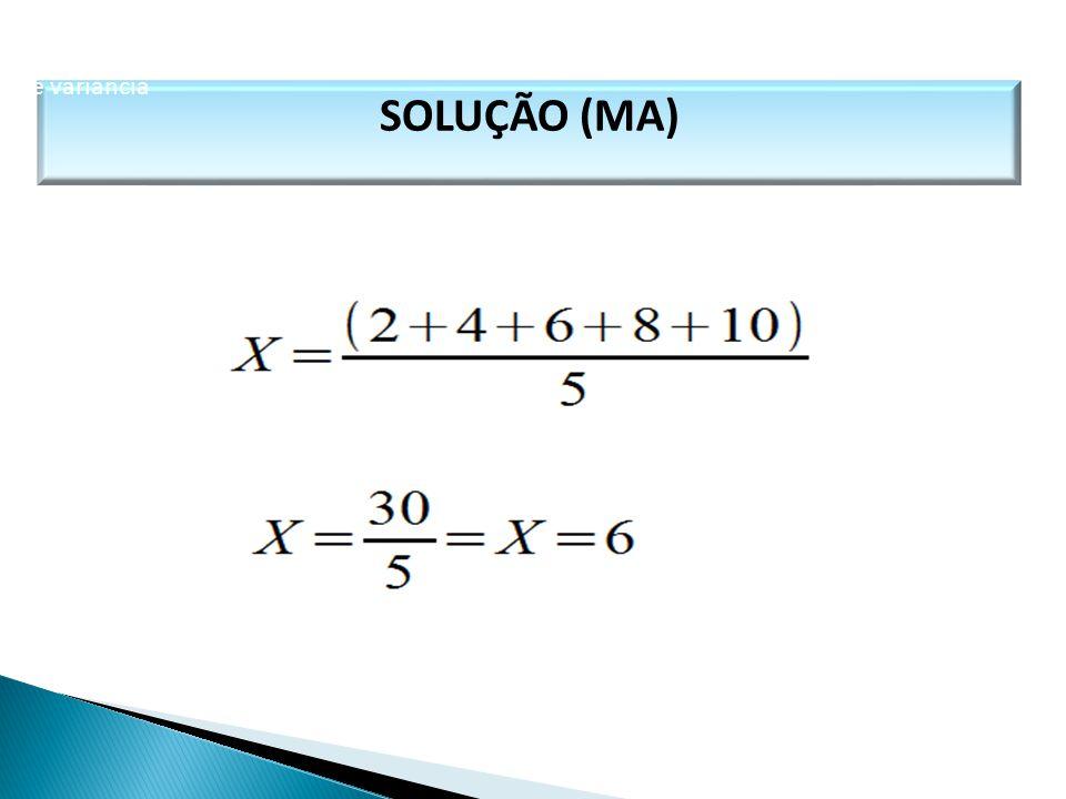 SOLUÇÃO (MA) MATEMÁTICA, 1º Ano Medidas de dispersão: desvio médio, desvio padrão e variância