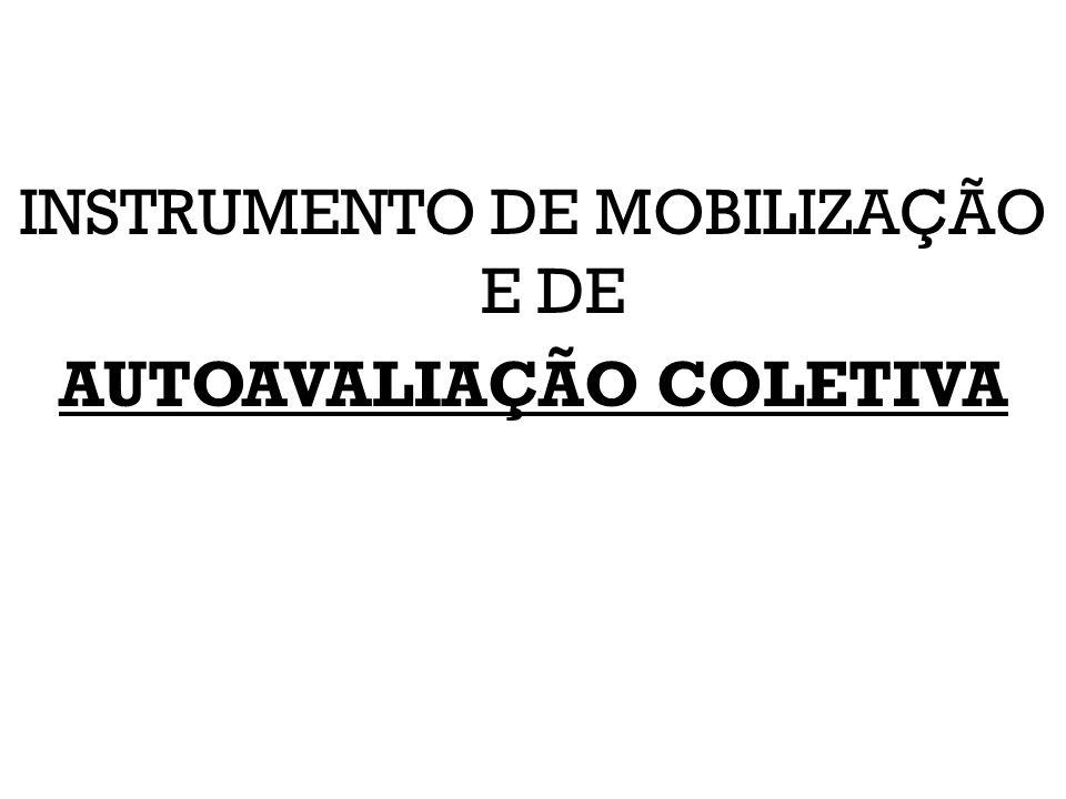 INSTRUMENTO DE MOBILIZAÇÃO E DE AUTOAVALIAÇÃO COLETIVA