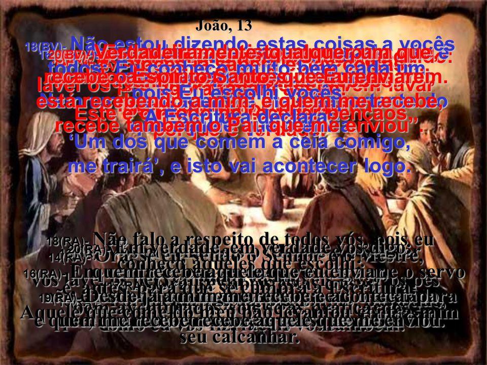 9(BV)- Simão Pedro exclamou: Então, lave-me as mãos e a cabeça também...