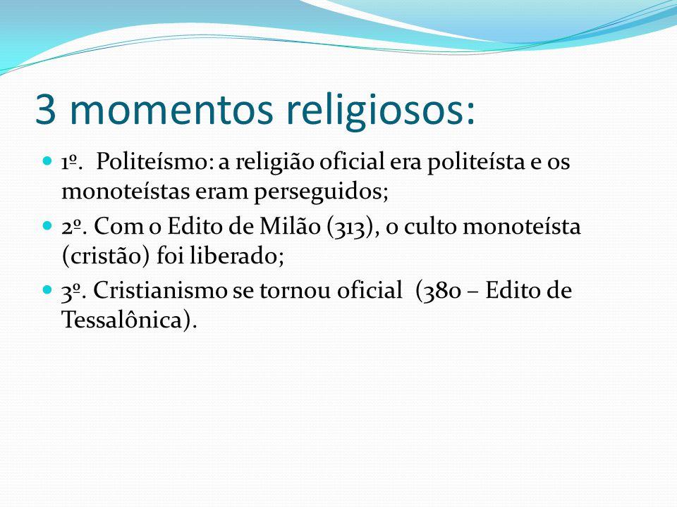 3 momentos religiosos: 1º.