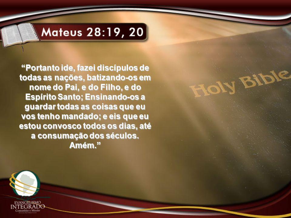 """""""Portanto ide, fazei discípulos de todas as nações, batizando-os em nome do Pai, e do Filho, e do Espírito Santo; Ensinando-os a guardar todas as cois"""