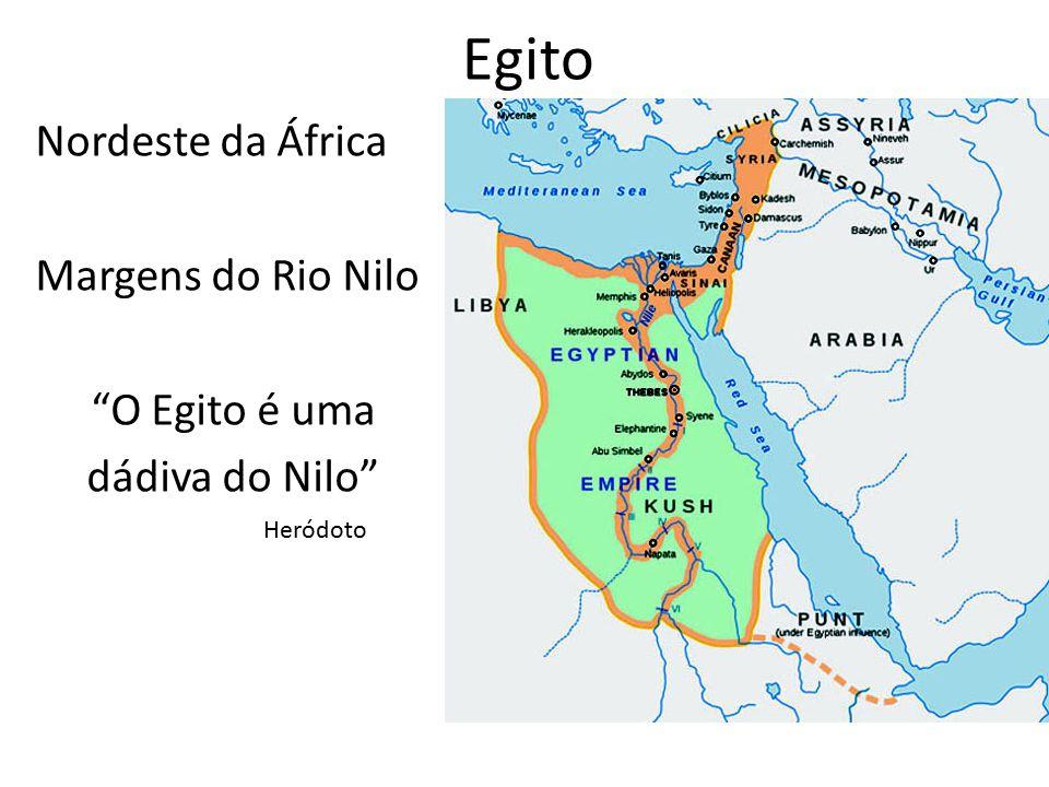Egito Nordeste da África Margens do Rio Nilo O Egito é uma dádiva do Nilo Heródoto