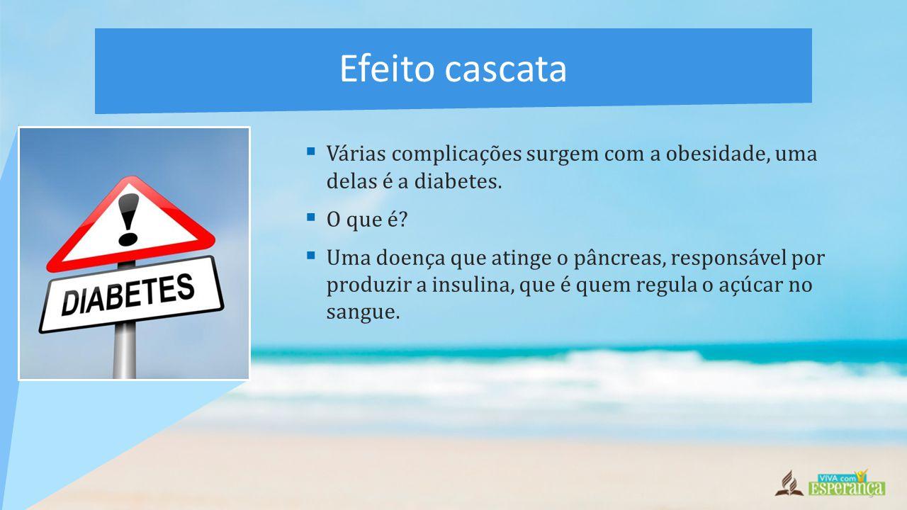  Várias complicações surgem com a obesidade, uma delas é a diabetes.