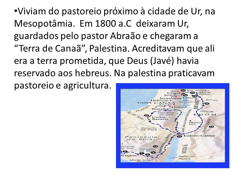 Viviam do pastoreio próximo à cidade de Ur, na Mesopotâmia.