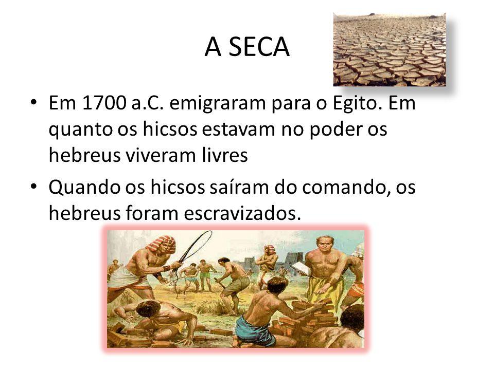 A SECA Em 1700 a.C.emigraram para o Egito.