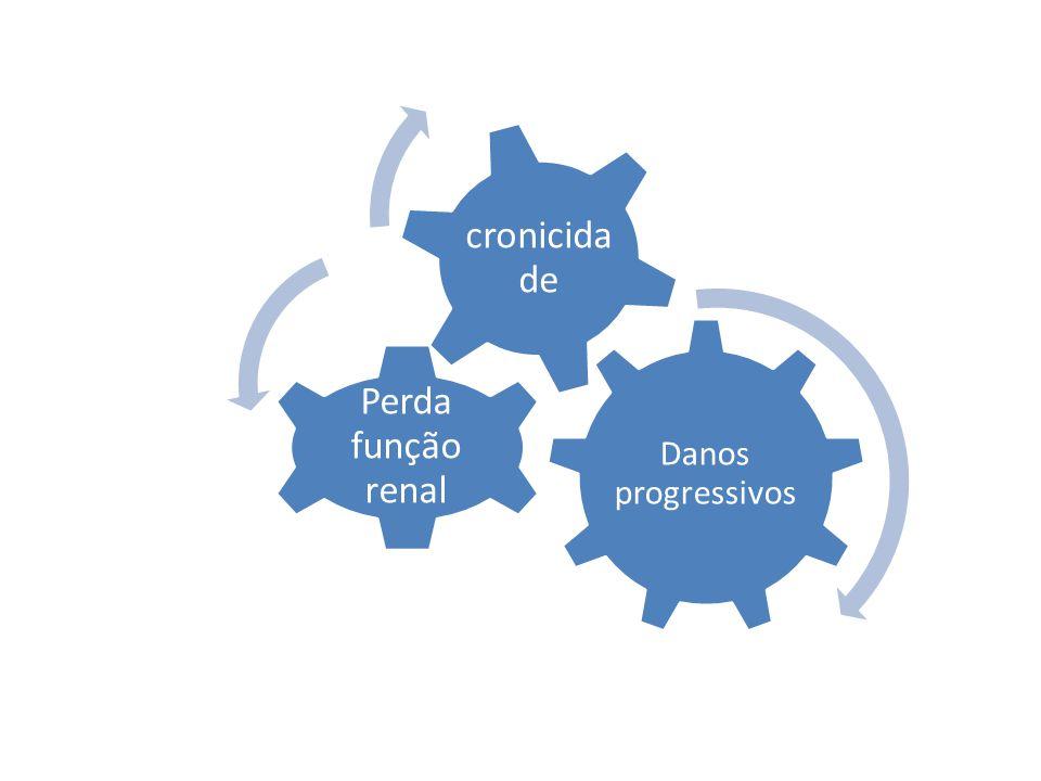 Danos progressivos Perda função renal cronicida de