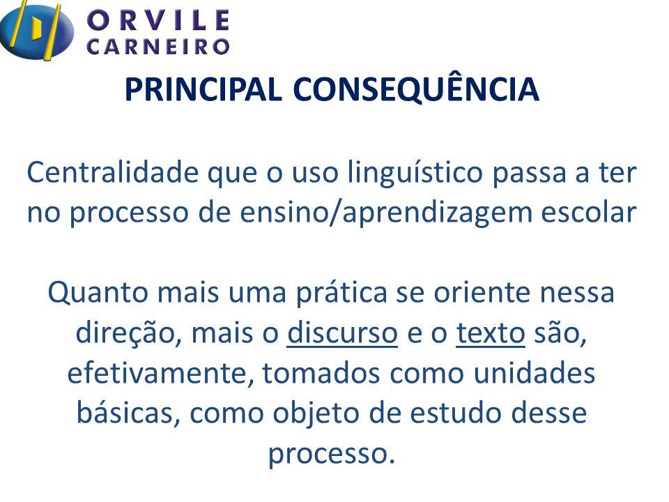 Propriedades discursivas, interativas ou enunciativas dos processos de compreensão/produção de textos, continuaram à margem dos processos de ensino-aprendizagem.
