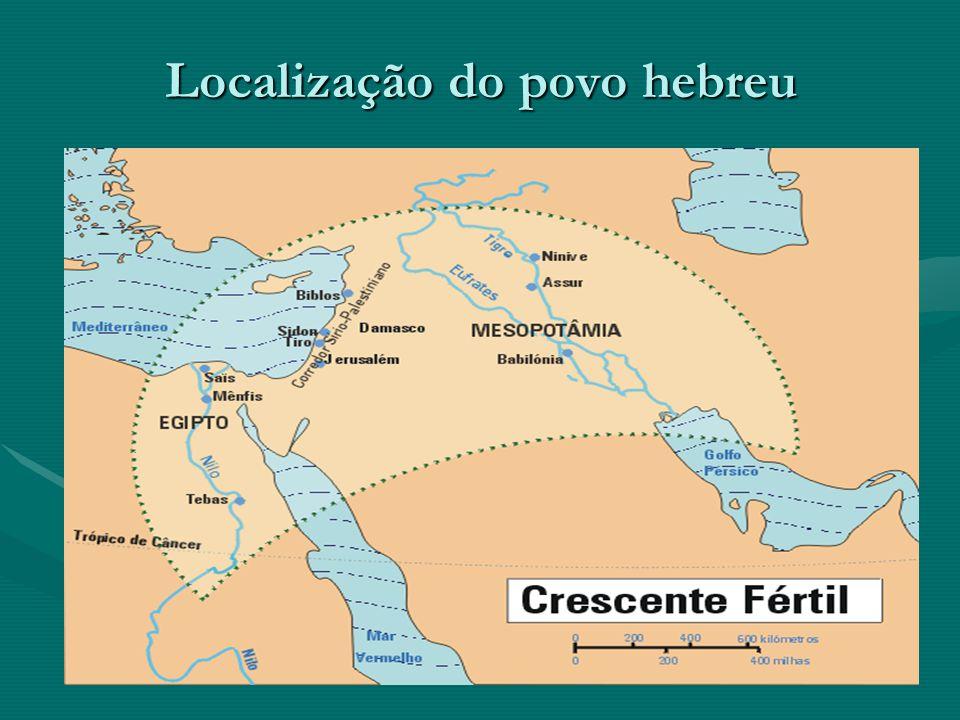 Localização do povo hebreu