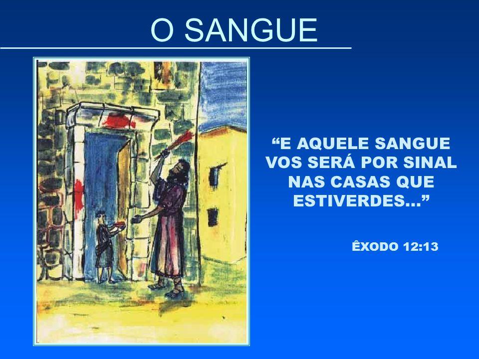 """O SANGUE """"E AQUELE SANGUE VOS SERÁ POR SINAL NAS CASAS QUE ESTIVERDES..."""" ÊXODO 12:13"""