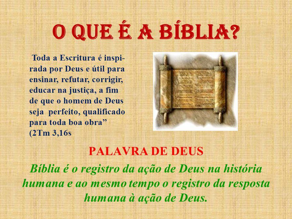 FORMAÇÃO DO ANTIGO TESTAMENTO A Bíblia não nasceu como livro, mas como a tradição de um povo.