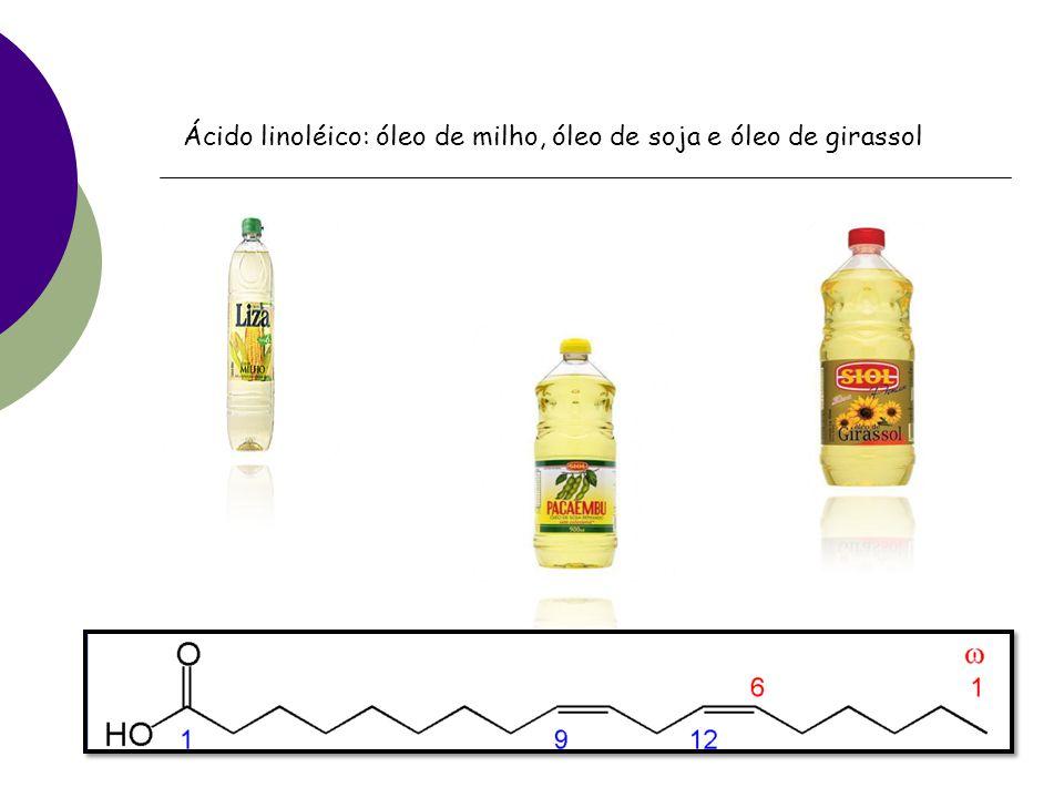Gorduras insaturadas Dividas em : monoinsaturada poliinsaturada