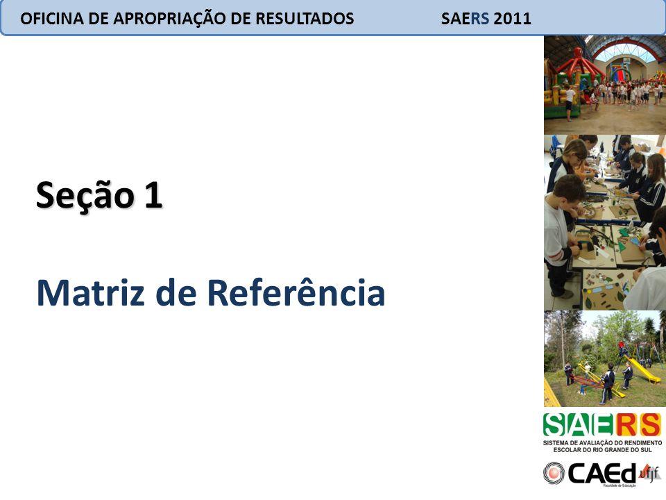 OFICINA DE APROPRIAÇÃO DE RESULTADOS SAERS 2011 Seção 1 Matriz de Referência