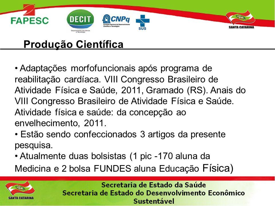Produção Científica Adaptações morfofuncionais após programa de reabilitação cardíaca.