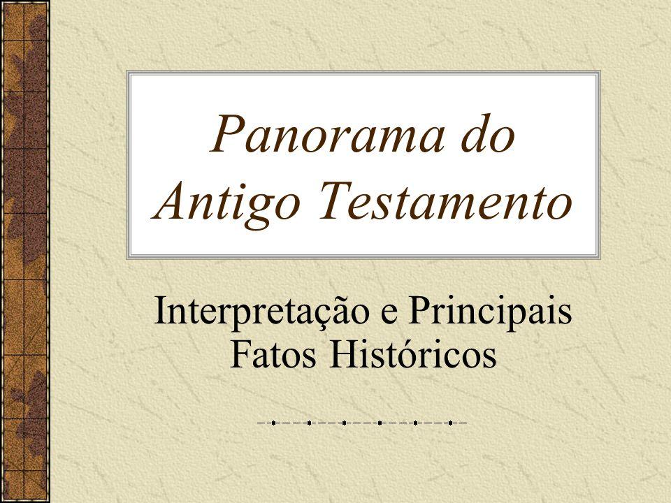 Panorama do Antigo Testamento Interpretação e Principais Fatos Históricos