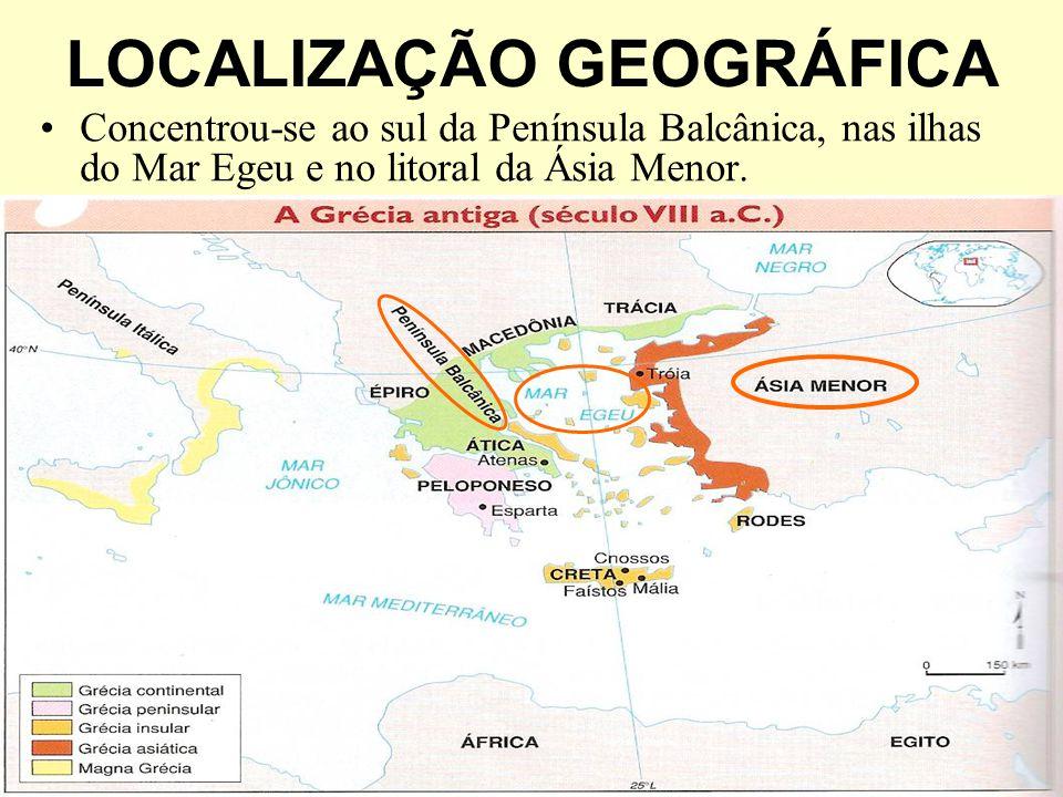 O relevo montanhoso e o conseqüente isolamento das localidades facilitaram a organização de cidades-Estado autônomas, característica marcante da Grécia Antiga.
