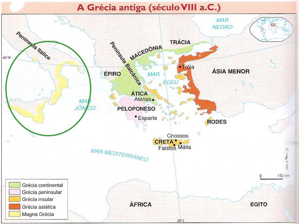 Imigração indo-européia Cretenses: Vindos da Ilha de Creta formavam uma civilização comercial que exerceu o domínio sobre a Grécia Continental.
