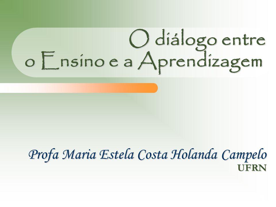 O diálogo entre o Ensino e a Aprendizagem UFRN Profa Maria Estela Costa Holanda Campelo 1