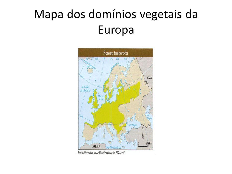 Mapa dos domínios vegetais da Europa