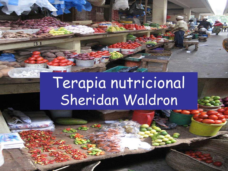 Slides atualizados até 2008 Alimentação e Diabetes Sheridan Waldron Zanzibar Segunda-feira, 21 de julho de 2008 Terapia nutricional Sheridan Waldron