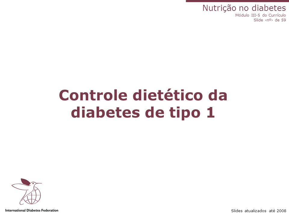 Nutrição no diabetes Módulo III-5 do Currículo Slide ‹nº› de 59 Slides atualizados até 2008 Programa de prevenção do diabetes de tipo 2 Resultados do