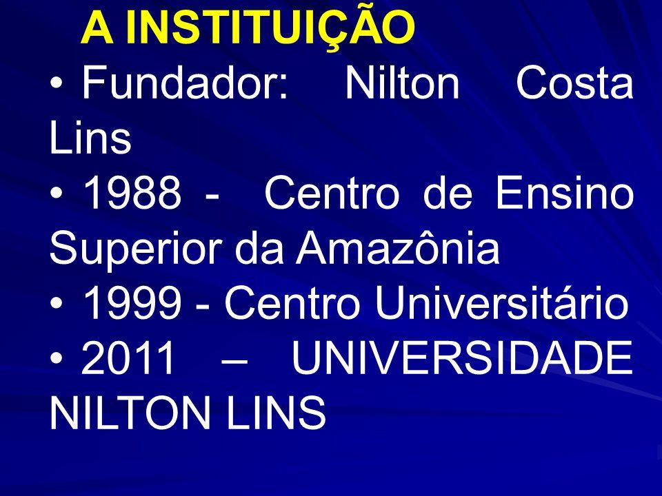 Fundador: Nilton Costa Lins 1988 - Centro de Ensino Superior da Amazônia 1999 - Centro Universitário 2011 – UNIVERSIDADE NILTON LINS