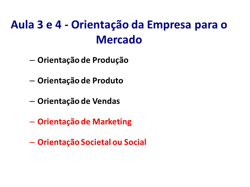 Marketing como Filosofia de Negócio Marketing Estratégico Marketing Operacional