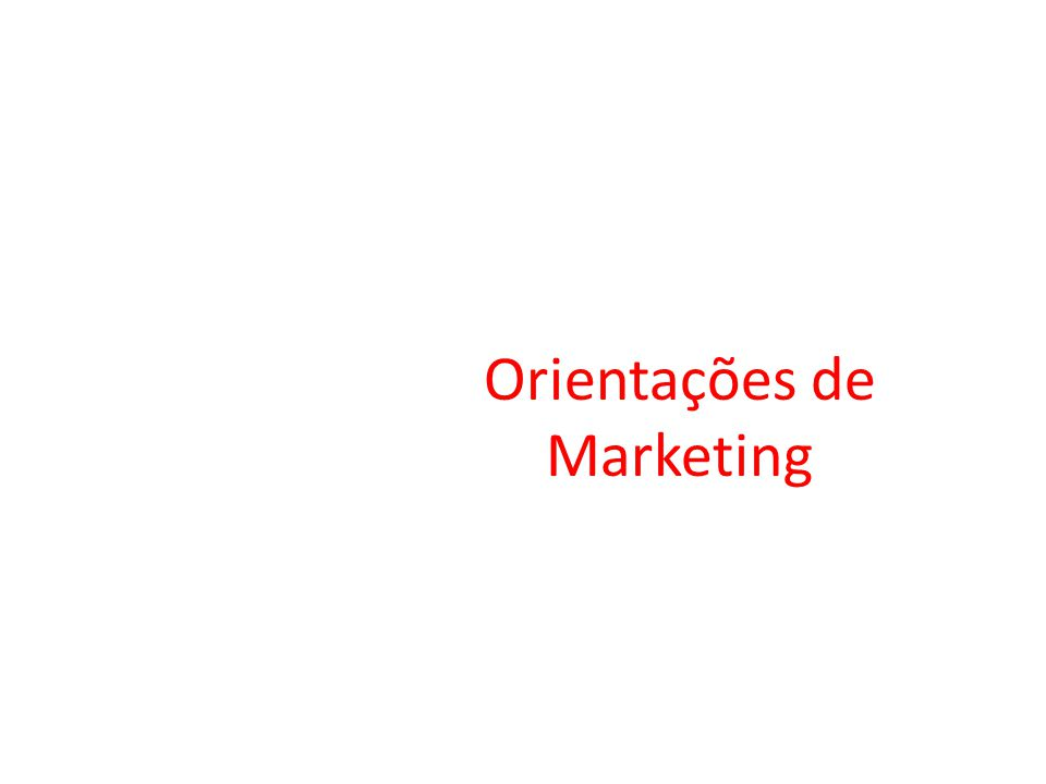 Orientações de Marketing