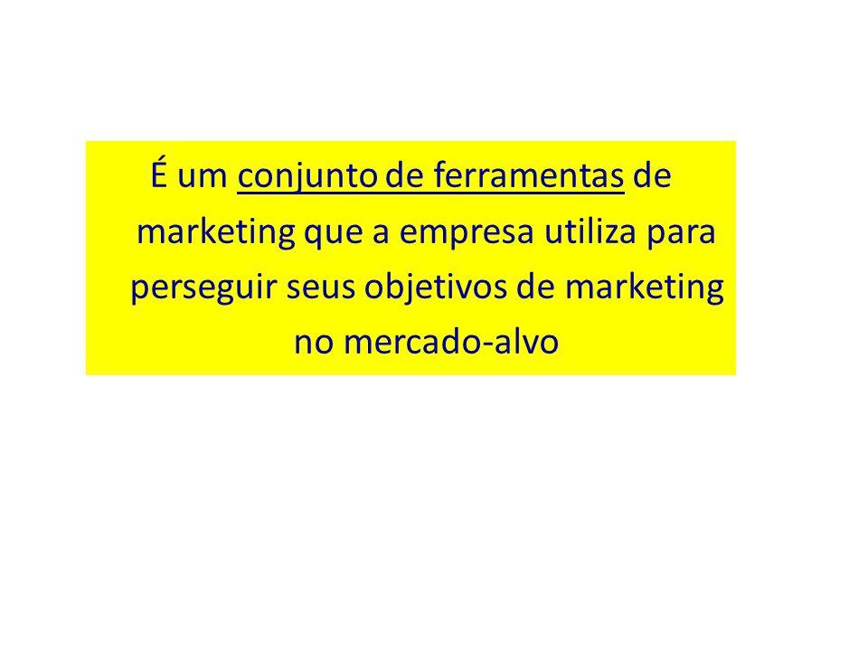 É um conjunto de ferramentas de marketing que a empresa utiliza para perseguir seus objetivos de marketing no mercado-alvo
