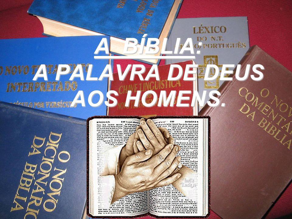 A BÍBLIA: A PALAVRA DE DEUS AOS HOMENS. 2