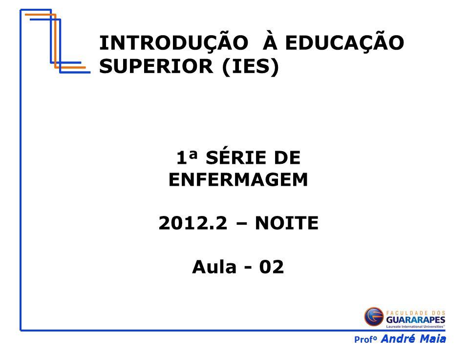 Profº André Maia INTRODUÇÃO À EDUCAÇÃO SUPERIOR (IES) 1ª SÉRIE DE ENFERMAGEM 2012.2 – NOITE Aula - 02