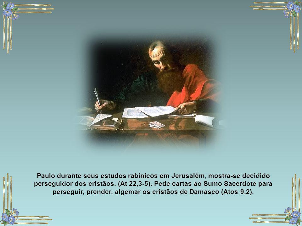 Paulo é o jovem aos pés de quem as testemunhas do martírio de Santo Estevão depuseram as suas capas e a quem Estevão pediu a Deus que não lhe fosse im
