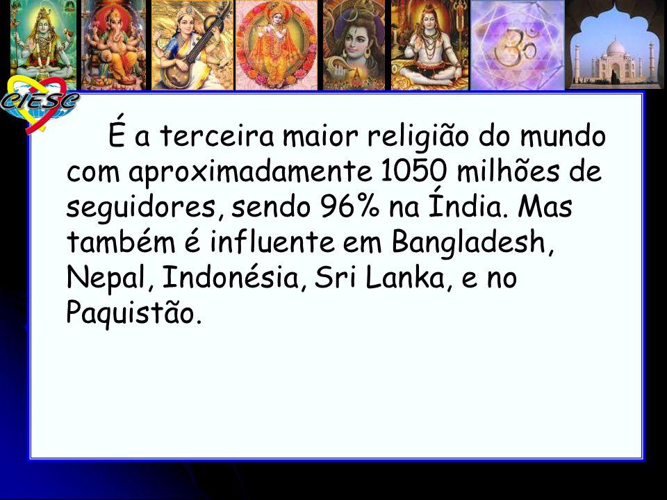 É a terceira maior religião do mundo com aproximadamente 1050 milhões de seguidores, sendo 96% na Índia. Mas também é influente em Bangladesh, Nepal,