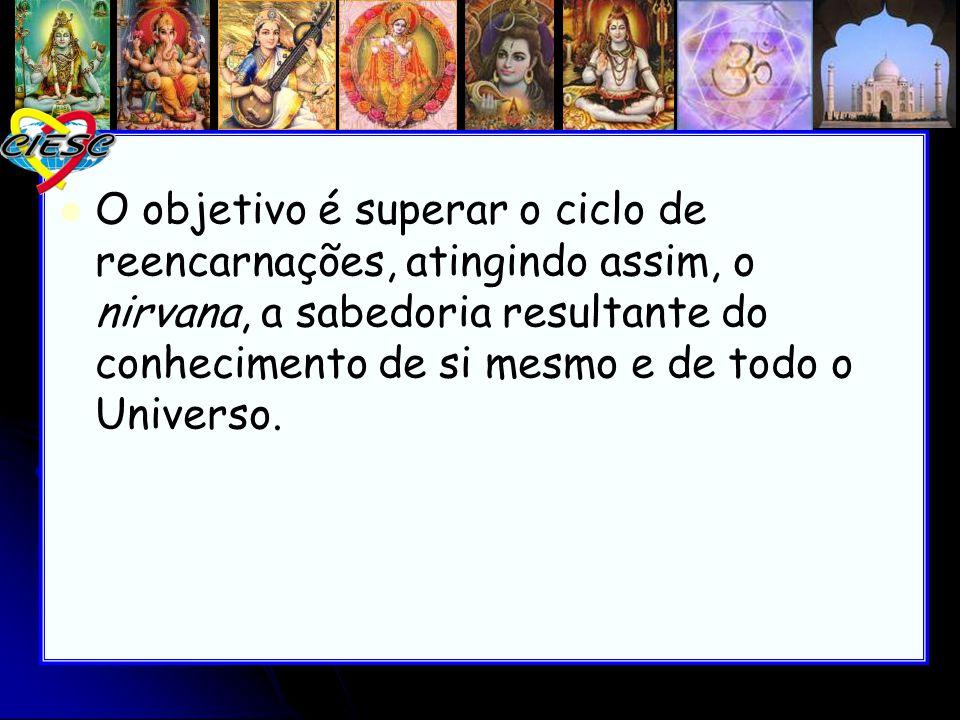 O objetivo é superar o ciclo de reencarnações, atingindo assim, o nirvana, a sabedoria resultante do conhecimento de si mesmo e de todo o Universo.