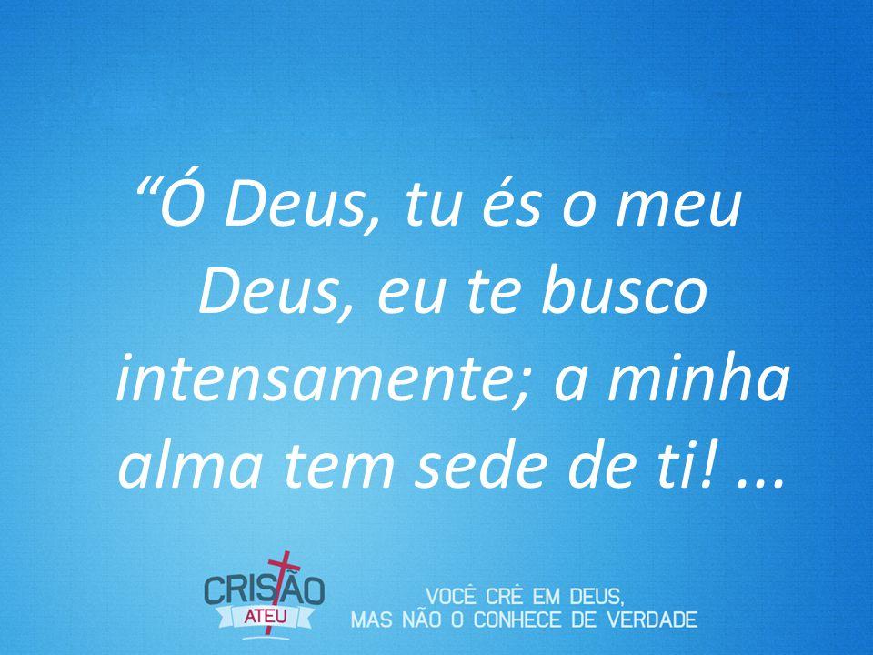 Ó Deus, tu és o meu Deus, eu te busco intensamente; a minha alma tem sede de ti!...