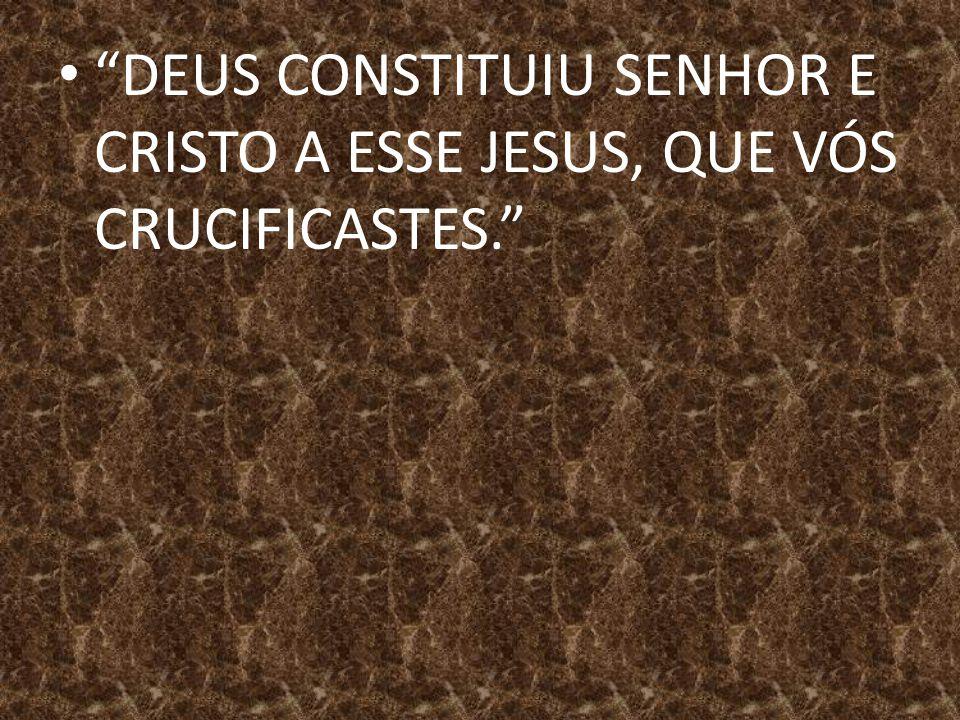 """""""DEUS CONSTITUIU SENHOR E CRISTO A ESSE JESUS, QUE VÓS CRUCIFICASTES."""""""