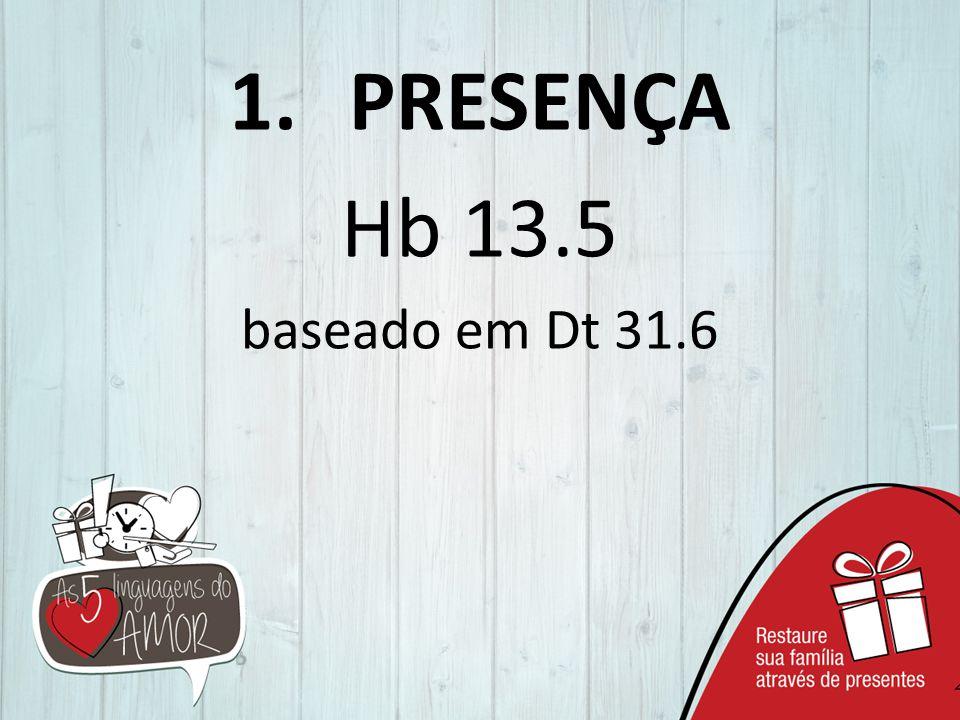 1.PRESENÇA Hb 13.5 baseado em Dt 31.6