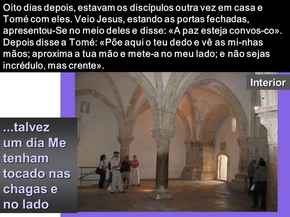 Tomé, um dos Doze, chamado Dídimo, não estava com eles quando veio Jesus. Disseram-lhe os outros discípulos: «Vi-mos o Senhor». Mas ele respondeu-lhes