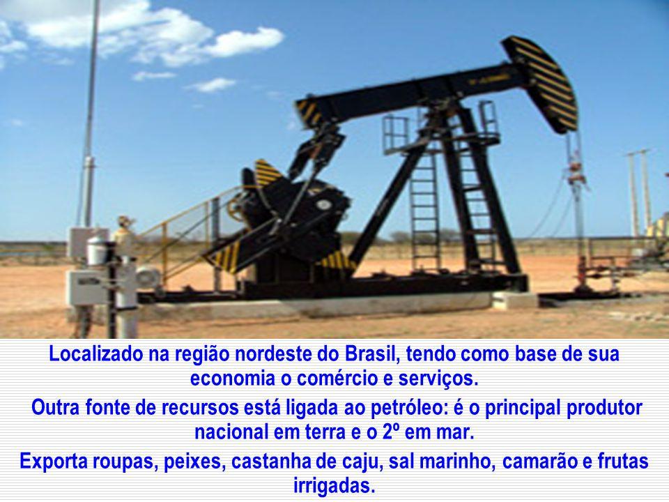 Localizado na região nordeste do Brasil, tendo como base de sua economia o comércio e serviços.