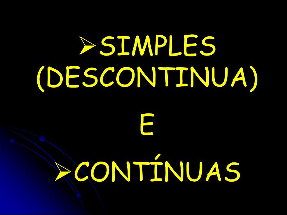  SIMPLES (DESCONTINUA) E  CONTÍNUAS