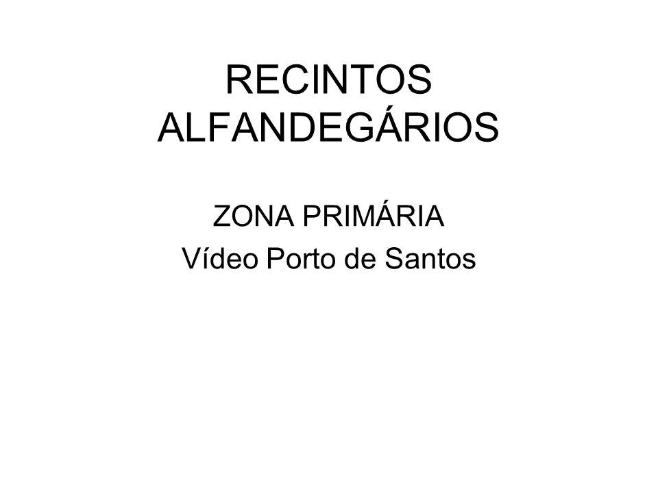 RECINTOS ALFANDEGÁRIOS ZONA PRIMÁRIA Vídeo Porto de Santos